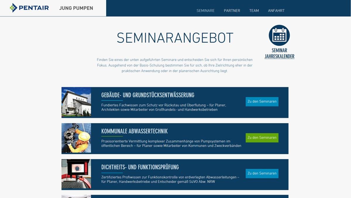 Seminarprogramm 2017 ist online - Neue Microsite von Pentair Jung ...